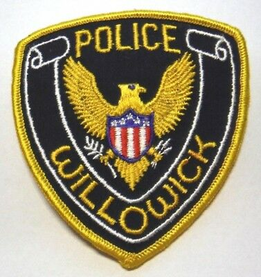 Old Willowick Ohio Police Patch Unused