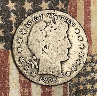 1906-S Barber Silver Half Dollar Collector Coin For Your Set Or Collection .