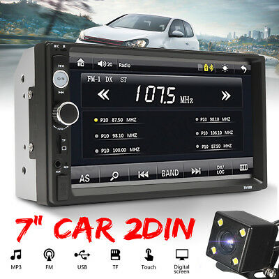 "7"" Double 2 Din Car Stereo Radio FM/MP5 Player Bluetooth HD Touch Screen +"