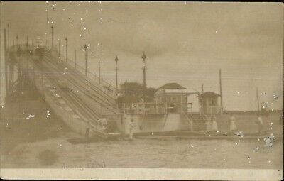 Rocky Point RI Chites Water Slide Amusement Park c1905 Real Photo Postcard