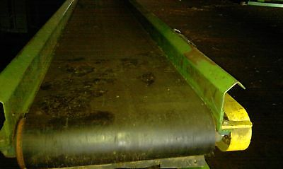 "24""x14' belt conveyor w/ gearhead motor"