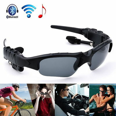 Wireless Bluetooth4.1 Headphones Stereo Sunglasses Sports Riding Glasses Headset