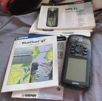 Vintage Garmin GPS 72 Handheld Land Marine Navigation Hunting + booklets