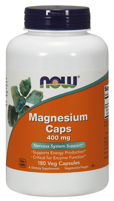 Magnesium 400 mg 180 Capsules by NOW Foods **Free Shipping**