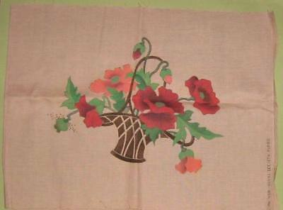 Royal Society #438 Vintage Tinted Unembroidered Floral Linen Pillow Unfinished