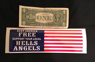 """Vintage """"keep America Free"""" Hells Angel Sticker For Collectors!!!"""
