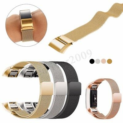 Replacement Metal Wristband Bracelet Strap Band Belt For Fitbit Charge 2