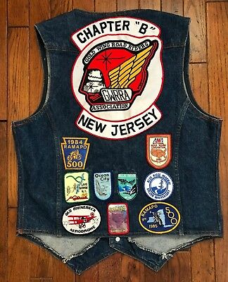 Vtg 70s 80s Levis Jean Jacket Vest USA Mens Trucker Patch Patches Orange Tab