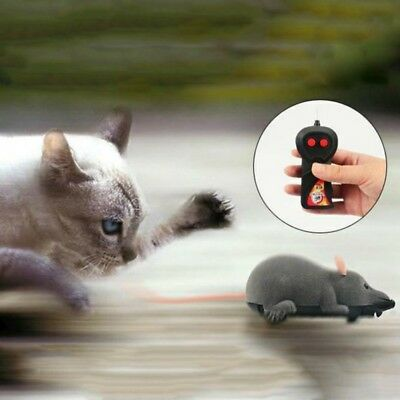 Remote Control Mouse Rat  Wireless Pet Cat Dog Play Interactive Toy Fun Gift US