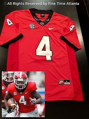 NEW Mecole Hardman Georgia Bulldogs UGA Men's RED HOME Jersey Fromm Fields Chubb