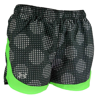 Under Armour Women's UA Graphic Print Running Shorts Black/Green L