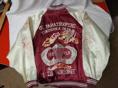 Vintage US Paratroopers Yokosuka, Japan, Old w/ embroidered Arms, 11th Airborne
