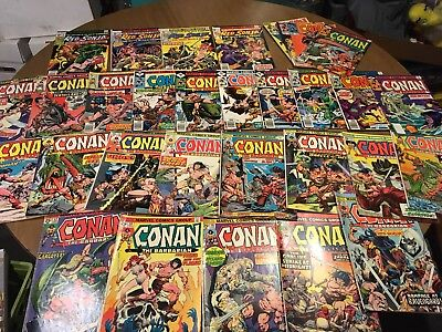 Lot Of 31 Issues Marvel Comics Conan The Barbarian Red Sonja G To Fine