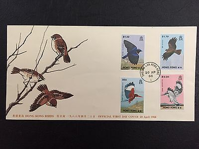 Hong Kong China Stamp 72011 F.D.C. 1988 04/20/88 Birds Set First Day Cover