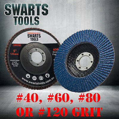 "5"" 125mm Cubic Zirconia Flap Discs Wheels Angle Grinder Super High Density"