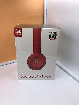Beats by Dr. Dre Solo3 Wireless On the Ear Headphones - Red/ Silver/White