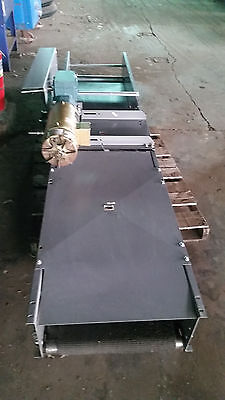 FKI Logistex 12' Conveyer W/ Gear Box & Baldor Motor 1 1/2 hp  belt, roller