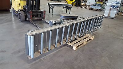 "FKI LOGISTEX Roller bed belt conveyor 12' 8"" With drive unit 1 1/2 hp motor"