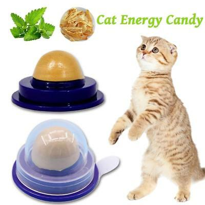 Cat Snacks Catnip Sugar Candy Licking Solid Nutrition Energy Ball Toy Healthy L7