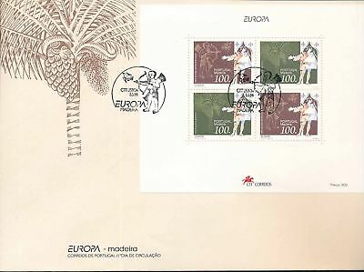 180001 / Portugal / Madeira FDC Block Europa Cept 1994