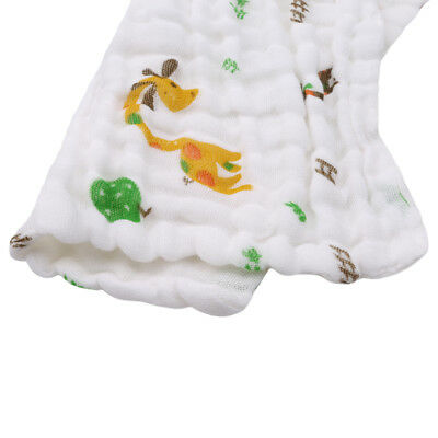 Newborn Baby  Patroon Handdoek Bibs Towel Gauze Muslin Cotton  Wash Cloths FR