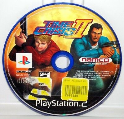Time Crisis II (Sony PlayStation 2, 2001) PS2 Time Crisis 2 Shooting Video Game