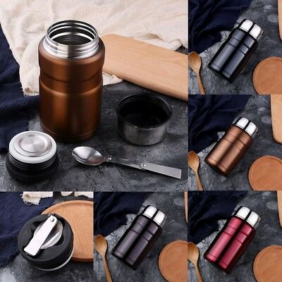 700ml Vacuum Thermos Bottle Insulated Stainless Steel Food Jar Container Cup New