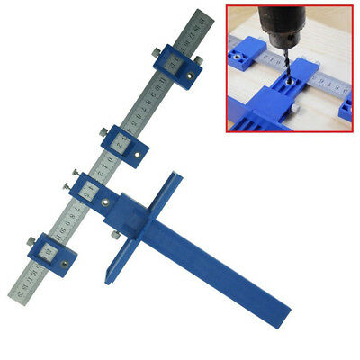 Adjustable Punch Locator Drill Guide Sleeve Hardware Jig Pull Jig Woodwork New