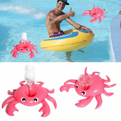 Cute Water Inflatable Floating Cup Holder Pool Drink Holders Swim Ring Water Toy