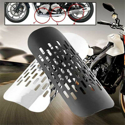Pro Universal Motorcycle Exhaust Muffler Pipe Heat Shield Cover Heel Guard New