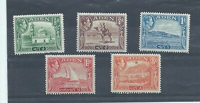 Aden stamps. Some of the 1939 GVI series MH. (B848)