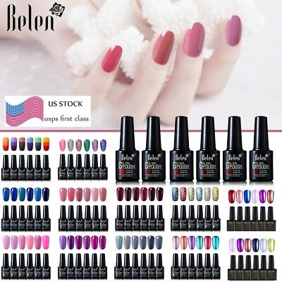 Ukiyo/ Belen Gel Nail Polish UV LED 6 Colors Set Need Top Base Coat US STOCK