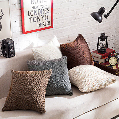 Decorative Knitting Pillow Case Cushion Cover Pillowcase Home Decor Gift 45*45cm