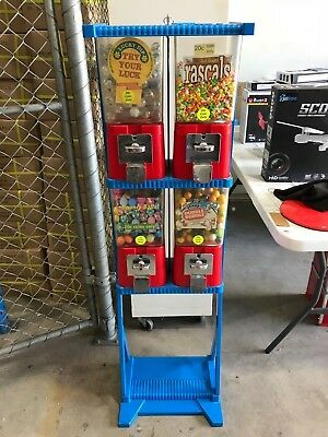 Vintage Brabo Toy/sweet Double Stack Vending Machine Full Of Stock.
