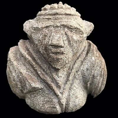 Ultra Rare Stone Age Ancient Neolithic Anthromorphic Vinca Bust (2)