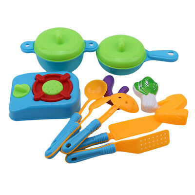 11pcs Kitchen Pretend Role Play Set Toy Cooking Food Tableware Kids Children Toy