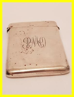 Silver Hallmarked Heavy Grade Card Case, Birmingham 1906 ,95 Grams