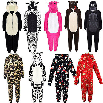Kids Girls Boys Soft Fluffy Animal Wolf One Piece Halloween Costume All in One