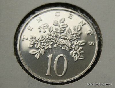 1976 Jamaica 10 Cent  Proof From A Proof Set  World As Imaged  #bcv70