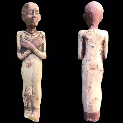 EGYPTIAN HIEROGLYPHIC SHABTI, LATE PERIOD 664 - 332 BC (12) 19.5 Cm Tall !!!!!!!