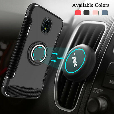 For Samsung Galaxy J7 V 2018/Crown/Refine/Star Case With Ring Stand + Car Holder