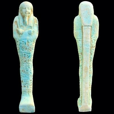 EGYPTIAN HIEROGLYPHIC SHABTI, LATE PERIOD 664 - 332 BC (3) 14.2 Cm Tall !!!!!!!