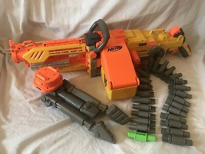 Nerf N-Strike Havoc Fire 25 With Ammo Belt And Box And Tripod