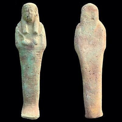 EGYPTIAN HIEROGLYPHIC SHABTI, LATE PERIOD 664 - 332 BC (4) 22 Cm Tall !!!!!!!