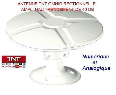 Antenne TNT + TNTHD camping car , caravane omnidirectionnelle 40DB PIED/MAT