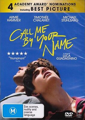 Call Me By Your Name (2017) DVD Timothee Chalamet-Armie Hammer-NEW