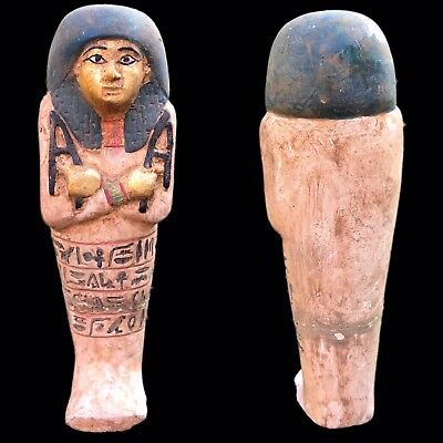 EGYPTIAN HIEROGLYPHIC SHABTI, LATE PERIOD 664 - 332 BC (5) 17 Cm Tall !!!!!!!