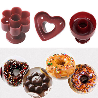 Heart Flower Donut Cookies Cutter Pastry Desserts Pudding Cake Mold Mould Tools