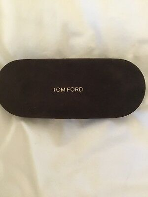 Dark Brown Suede Tom Ford Glasses Case With Sealed Cloth