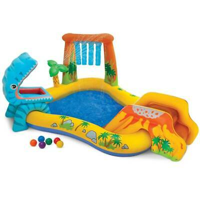 Piscina inflable para niños Intex 57444 Dinosaur Play Center juego